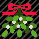 decoration, mistletoe, plant, winter, xmas