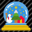 ball, christmas, glass, snowglobe icon