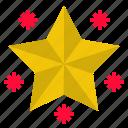 christmas, night, shiny, star icon