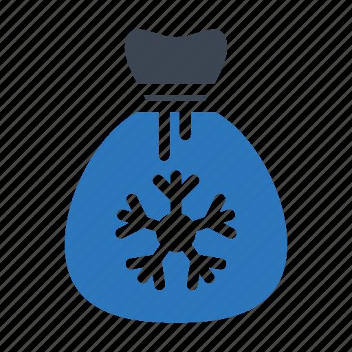 bag, candy, christmas, snowflake, toffee icon