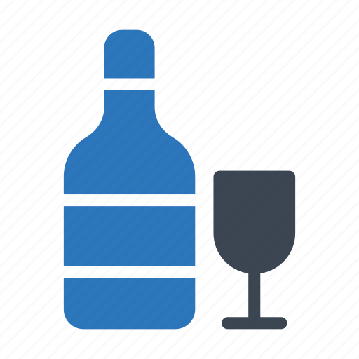 beer, bottle, drink, glass, wine icon