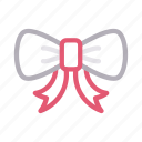 bow, christmas, gift, ribbon, surprise icon