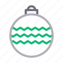 christmas, decoration, globe, light, party icon