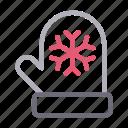 christmas, gloves, mitten, snowflake, winter