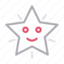 christmas, decoration, face, smiley, star icon