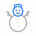 christmas, decoration, ice, snowman, winter icon
