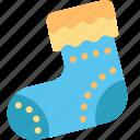 christmas, stocking, decoration, gift, sock, xmas icon