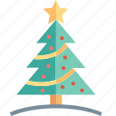 christmas, tree, celebration, decorated, fir tree, star, winter icon