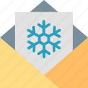 good, wishes, card, greeting, letter, mail, snowflake icon
