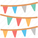 garland, paper, celebration, christmas, decoration, flags, party