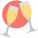 stemware, alcohol, celebration, champagne, cheers, drink, glass icon
