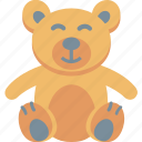 teddy, bear, toy, play, baby, gift, children icon