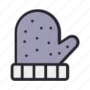 christmas, gloves, holiday, snow, winter icon