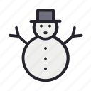 christmas, holiday, snow, snowman, winter icon
