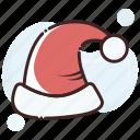 claus, hat, santa icon