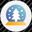 christmas, crystal, decoration, magic ball
