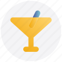 alcohol, christmas, drink, glass, straw, wine icon