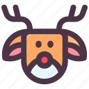 christmas, claus, deer, reindeer, santa, winter icon