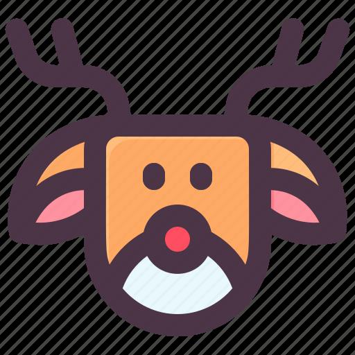 Christmas, claus, deer, reindeer, santa, winter icon - Download on Iconfinder