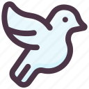 bird, christmas, decoration, dove, toy icon