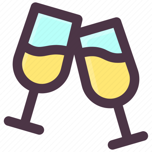 champagne, cocktail, drink, glass, wine icon