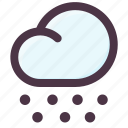 cloud, season, snow, weather, winter icon