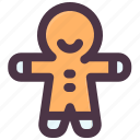 christmas, cookies, food, gingerbread, sweet icon
