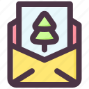 card, christmas, greeting, invitation, letter icon
