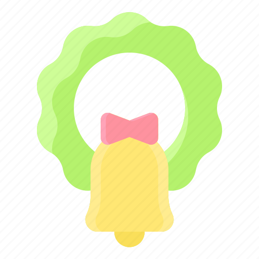 bell, christmas, decoration, garland, wreath icon