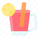 cinnamon, drink, lemon, mulled, wine