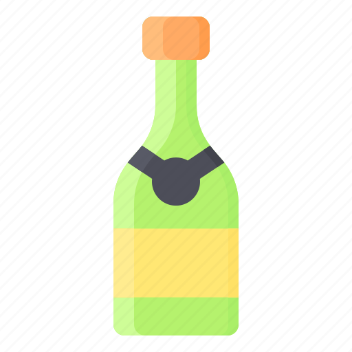 bottle, champagne, christmas, drink, restaurant icon