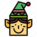 avatar, christmas, elf, fantasy icon