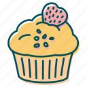 cake, cupcake, muffin, strawberry, sweets icon