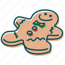 biscuit, christmas, ginger, gingerbread, sweet, wafer icon