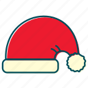 cap, christmas, new year, santa claus, santa's cap, xmas icon