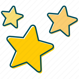 christmas, decoration, golden, star, stars, yellow star icon