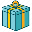 bday, birthday, box, celebration, christmas, gift, new year icon