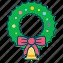 bell, christmas, christmas decoration, decoration, wreath