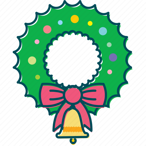 bell, christmas, christmas decoration, decoration, wreath icon
