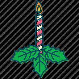 candle, christmas, christmas decoration, decoration, flame, xmas icon