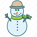 christmas, cold, snow, snowflakes, snowman, winter icon