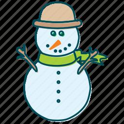 christmas, cold, snow, snowflakes, snowman, winter icon