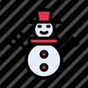 christmas, decoration, event, iceman, snowman icon