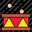 percussion, music, drumsticks, drum icon