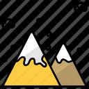 nature, mountains, altitude, landscape, scenery, snow mountains icon