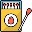 flame, matchbox, tool, fire, matchstick, matches