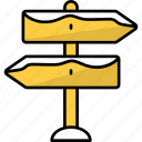 sign, signal, label, arrows, board, directions, left and right icon
