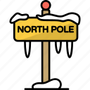 polar, north, ice, ice caps, board, pole, signboard icon