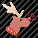 christmas, christmas raindeer, rudolph, xmas icon