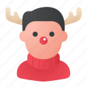christmas, rudolph, rudolph costume, avatar icon